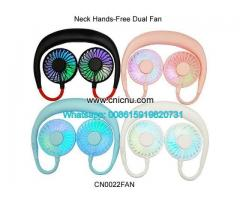 Portable Hands-free Neck USB Rechargeable Dual Mini Fan
